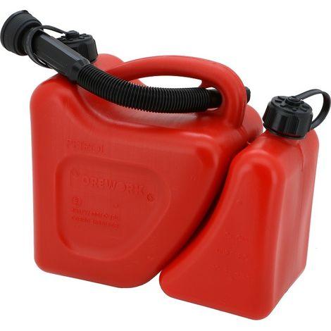 Bidon gasolina CE 5+2 Lt Rojo