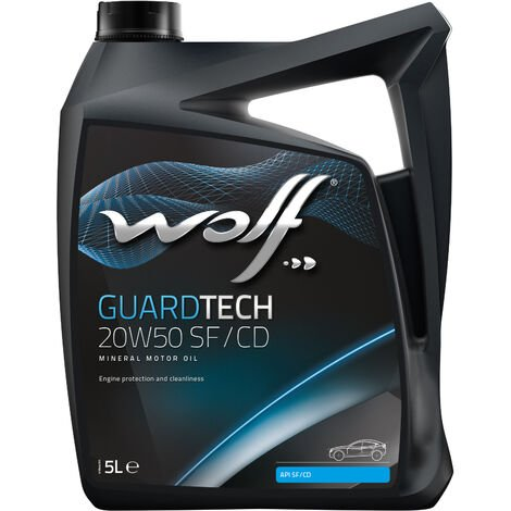 Bidon GUARDTECH 20W50 SF/CD 5L Wolf 8325656