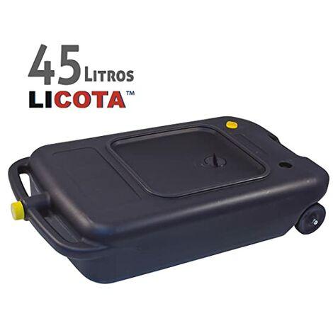 Bidón Recogedor Aceite Usado Con Ruedas Y Tapón Para Camión Coche Furgoneta 45L Litros - De Gran Tamaño Xxl