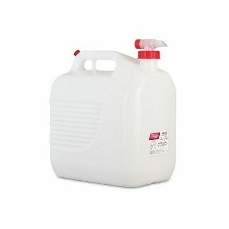 "main image of ""Bidon Trasvase Liquido Alimentario 345X234X377Mm 20Lt Tapon/Grifo Plastico BlancoTayg"""