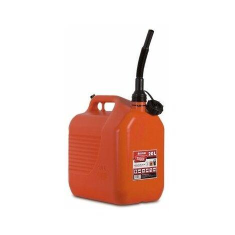 "main image of ""Bidon Trasvase Liquido Carburante 345X234X377Mm 20Lt Con Canula Plastico Rojo Tayg"""