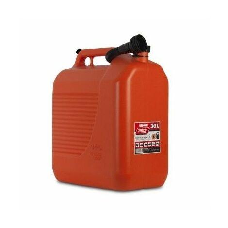 "main image of ""Bidon Trasvase Liquido Carburante 400X237X464Mm 30Lt Con Canula Plastico Rojo Tayg"""
