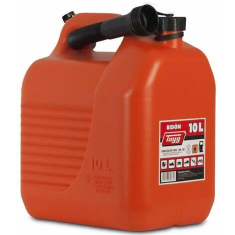 "main image of ""Bidon Trasvase Liquidos Carburante Con Canula 265X200X307Mm 10Lt Plastico Rojo T"""
