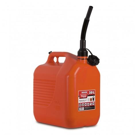 Bidon trasv.liq carbur. 345x234x377mm 20lt c/can pl ro tayg