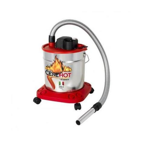 """Bidon vide cendres chaudes """"CENEHOT"""" SUR ROUES à moteur électrique 950W,18L pour aspirer les cendres chaudes des cheminées, des poêles à bois ou à granulés"""