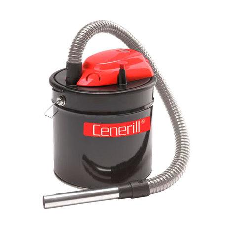 """Bidon vide cendres décolmatant """"CENERILL"""" à moteur électrique 800W, 18L pour aspirer les cendres froides des cheminées, des poêles à bois ou à granulés"""