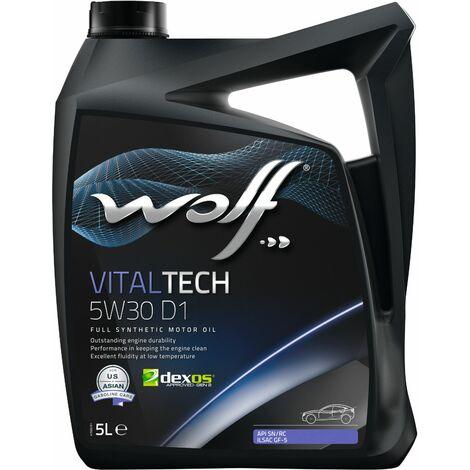 Bidon Vitaltech 5W30 D1 5L Wolf 8332449