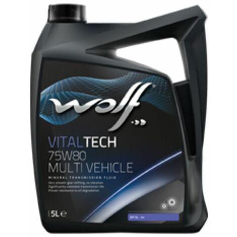 Bidon Vitaltech 75W80 MULTI VEHICLE 5L Wolf 8303708