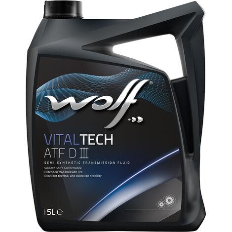 Bidon Vitaltech ATF DIII 5L Wolf 8305405 pour transmission