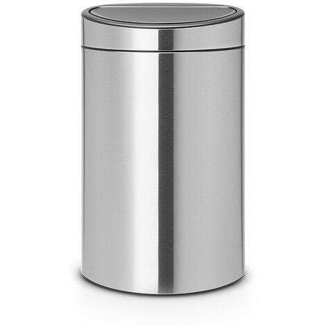 """main image of """"Brabantia Pattumiera Touch Bin New Recycle, 23/10 L, apertura soft-touch, doppio secchio interno in plastica - Matt Steel Fingerprint Proof - 112867"""""""