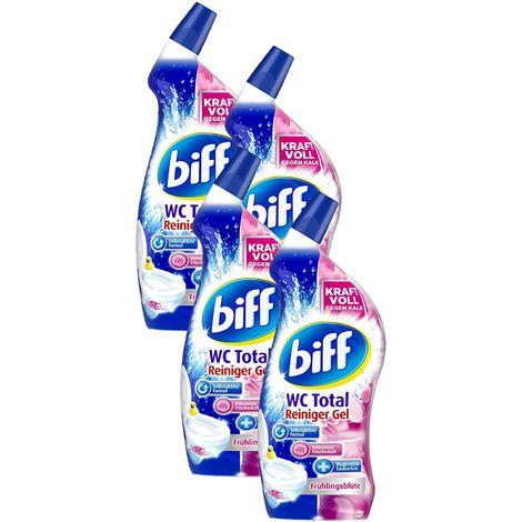 Biff WC Total Reiniger Gel Frühlingsblüte WC-Reiniger 4x750 ml Tolette Putzen
