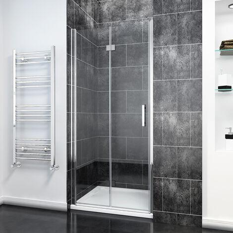 Bifold Shower Door Glass Shower Enclosure Reversible Folding Shower Door