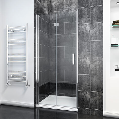 Bifold Shower Door Glass Shower Enclosure Reversible Folding Shower Door