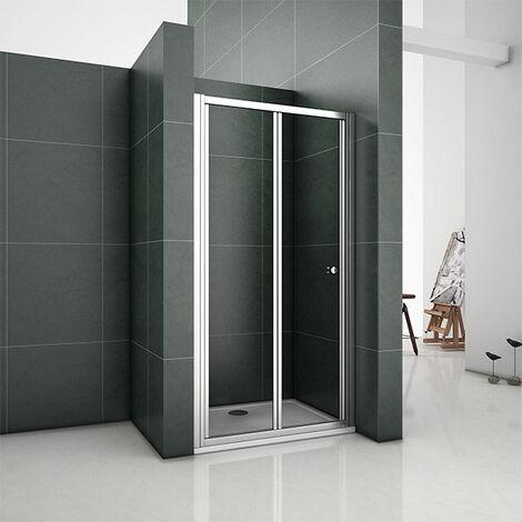 Bifold Shower Enclosure 5mm Glass Door Walk In Cubicle 700 760 800 860 900 1000