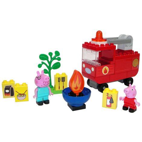 "BIG 40 Piece ""Bloxx"" Peppa Pig Fire Engine Set - Multicolour"