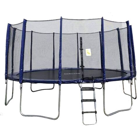 Big Air Boulder 16ft Round Trampoline with Enclosure