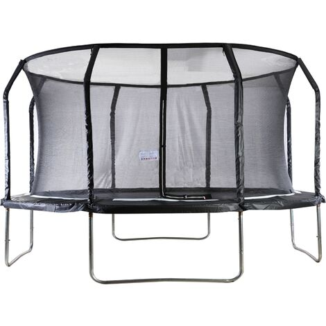 """main image of """"Big Air Extreme 14ft Trampoline with Safety Enclosure Black"""""""