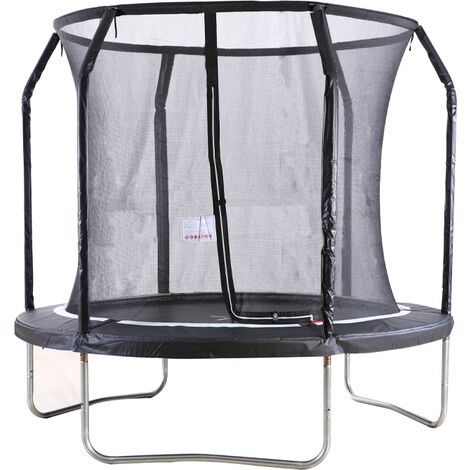 """main image of """"Big Air Extreme 8ft Trampoline with Safety Enclosure Black"""""""