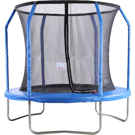 """main image of """"Big Air Extreme 8ft Trampoline with Safety Enclosure Blue"""""""