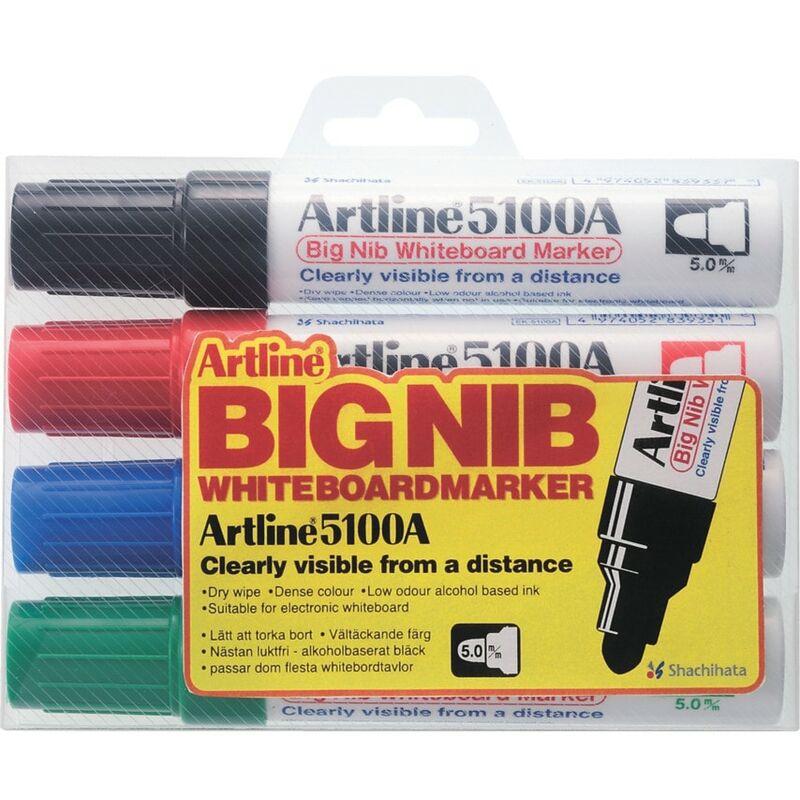 Image of Big Nib Bullet Marker Assorted (Pack-4) - Artline