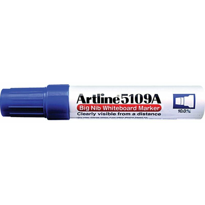 Image of Big Nib Whiteboard Marker Chisel Tip Blue - Artline