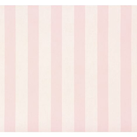 Big Stars Stripes Wallpaper Kids Teens Children Bedroom Luxury White Pink Rasch