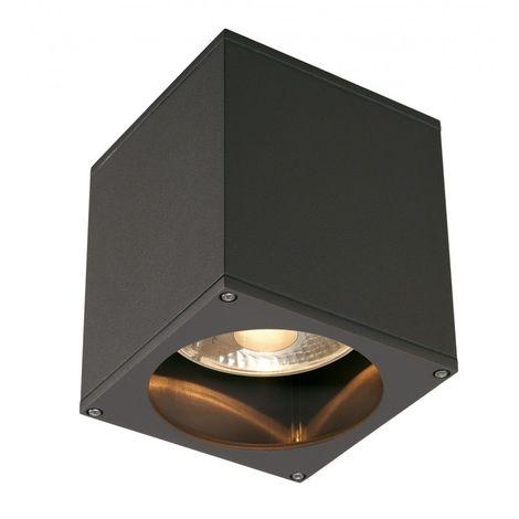 GU10 35W carré anthracite Projecteur extérieur theo plafond en plafonnier