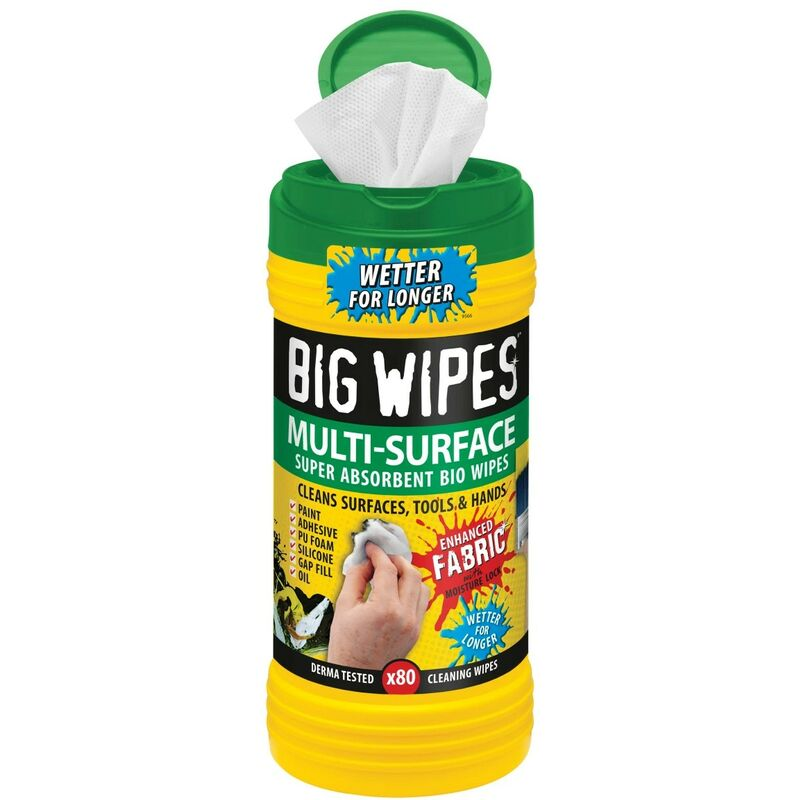 Image of 4x4 Multi-Surface Cleaning Wipes Tub of 80 BGW2440 - Big Wipes