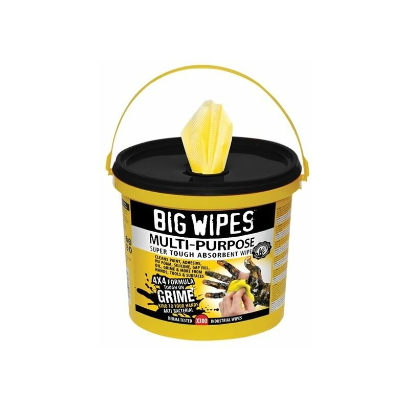 Image of 4x4 Multi-Purpose Cleaning Wipes Bucket of 300 ( 2417) - BGW