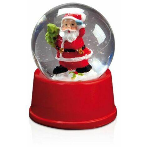 BigBuy Christmas Bola de Nieve de Papá Noel 143800   Rojo - Rojo