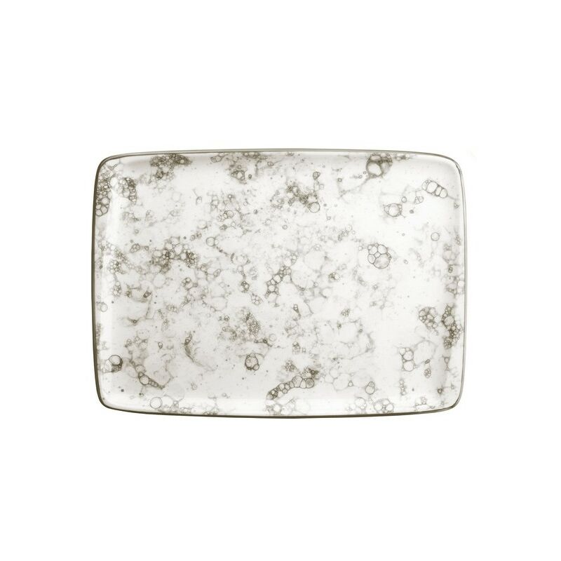 Bandeja Moove Rectangular Porcelana Blanco/marrón 35,7 X 25,6 X 2,2 Cm