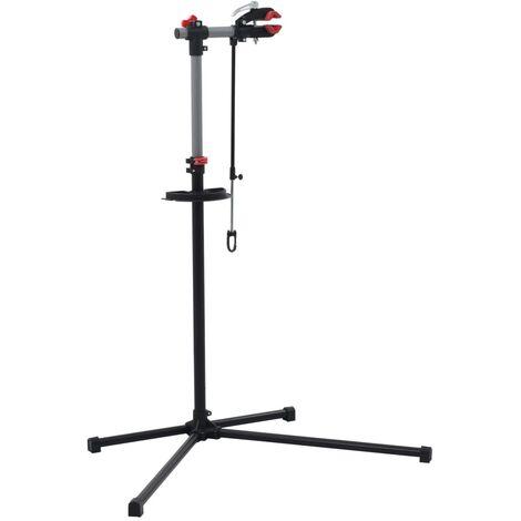 Bike Repair Stand 104x68x(110-190) cm Steel Black