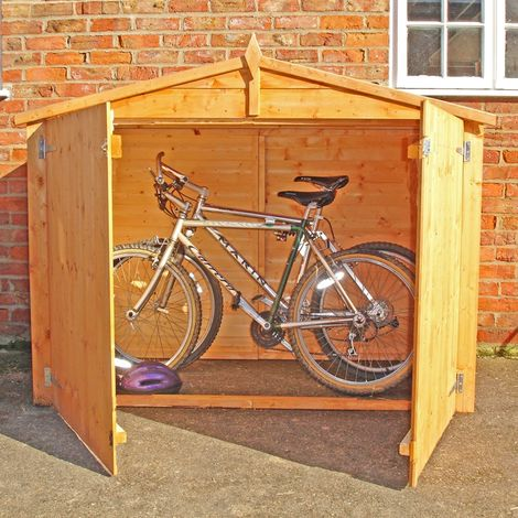 Bike Store Apex Shiplap Garden Bicycle Shed no floor