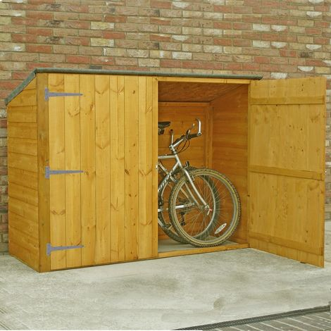 Bike Store Pent Shiplap Garden Bicycle Shed no floor