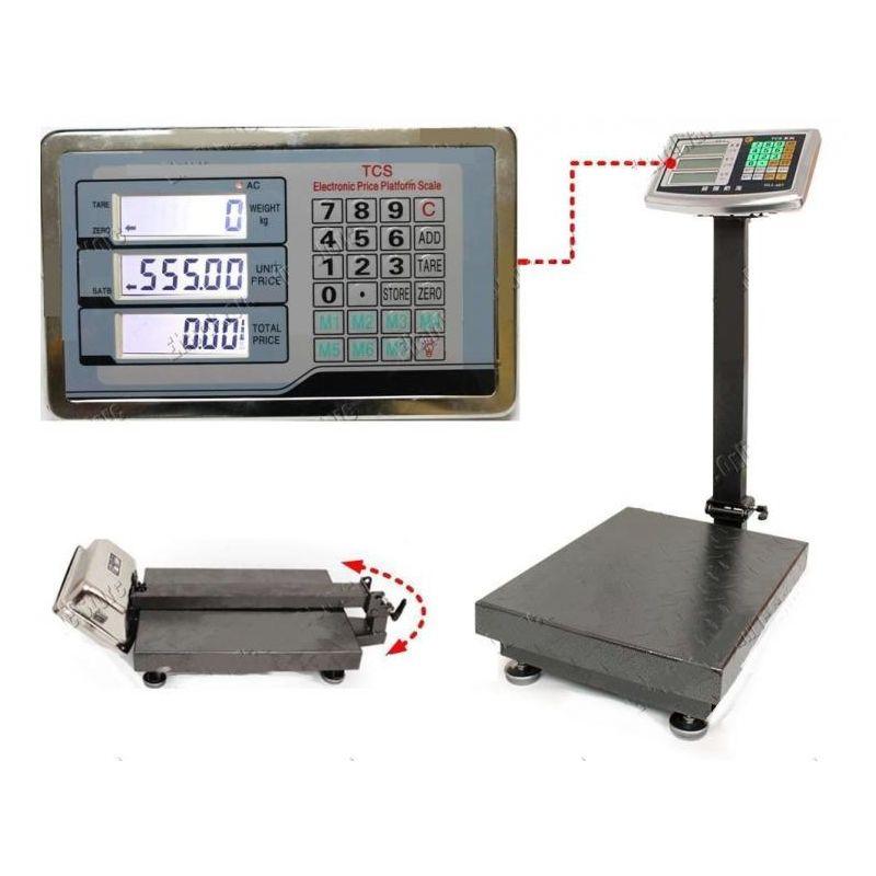 Image of Bilancia Bilico Elettronica Bascula Display Digitale Professionale 100Kg Acciaio