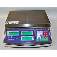 Bilancia Da Banco Elettronica Digitale Professionale Acciaio Inox Max 40 Kg 898