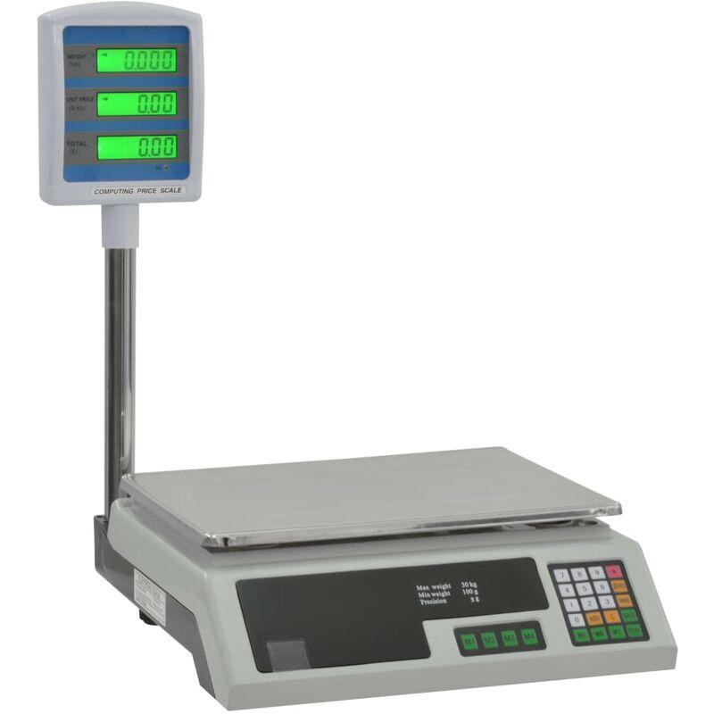 Image of Bilancia Elettronica Pesapacchi con LCD 30 kg - Vidaxl