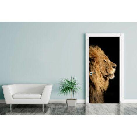 Bilderdepot24.de 1146322 porte motif ``grand lion africain 90 x 200 cm, autocollant
