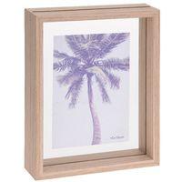 Bilderrahmen aus Holz mit Doppelverglasung, 16 x 21,5 x 4 cm, natur