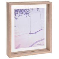 Bilderrahmen aus Holz mit Doppelverglasung, 21 x 26,5 x 4 cm, natur