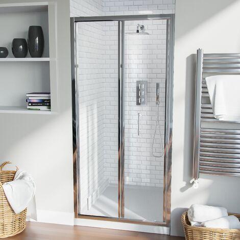 Bill 900 mm Bi Folding Glass Shower Door Panel