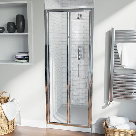 Bill Bi Folding 760 mm Glass Shower Door Panel