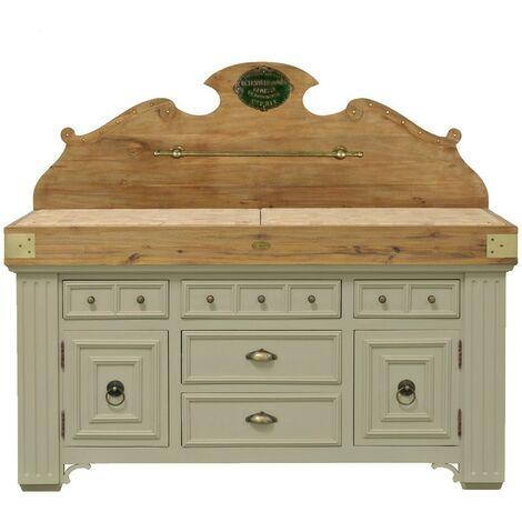 Billot meuble d'office en bois avec dosseret - De Kercoët