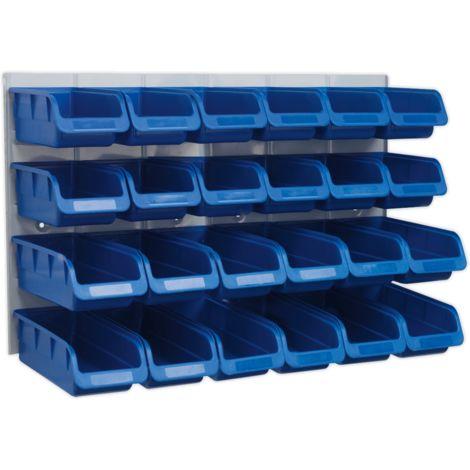 Bin & Panel Combination 24 Bins - Blue
