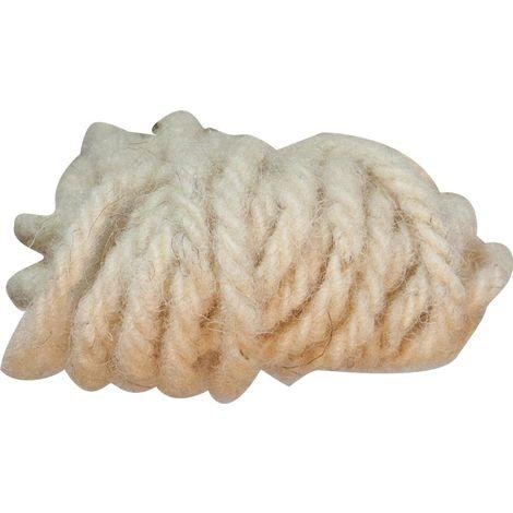 Bindeschnur aus Schafwolle weiß 10m