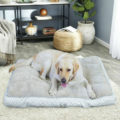 Bingo Paw Large Mattress Pet Dog Bed Cushion Warm Linter Pillow Washable Indoor