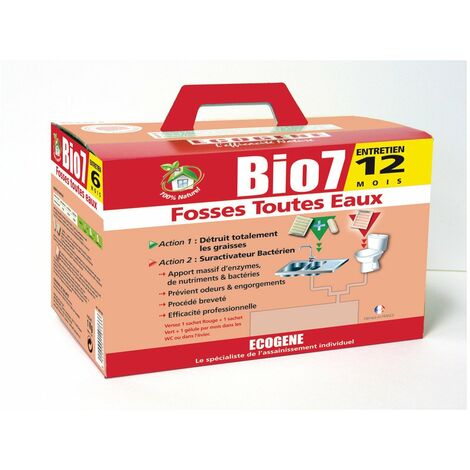 Bio 7 fosses toutes eaux bg sachets 24 doses -