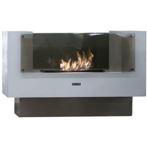 Bio cheminee double face moderne cm 110x30x75,4 Sined Fire INSIGNIO WHITE