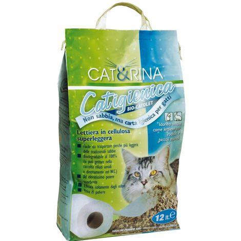 Bio-Katolett Papierstreu für Katzen und andere Tiere 12lt