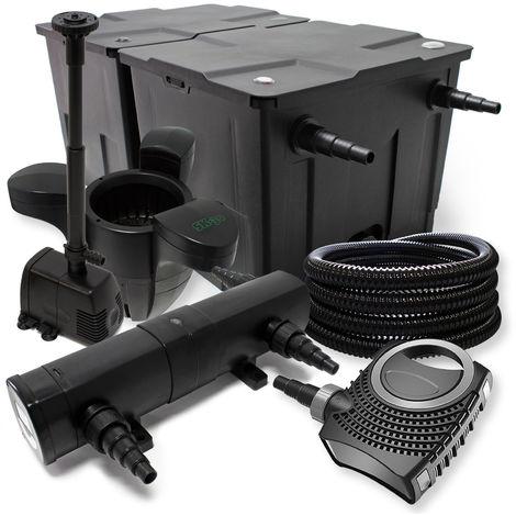 Bio-Kit de filtración con filtro 60000l Bomba ecológica 36W UV-Esterilizador y 25 m jardin